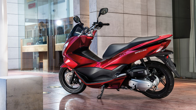 Honda-Scooter-PCX150-Location-Pearl Siena Red-Static