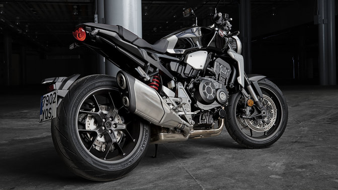 Boční pohled na model Honda CB1000R Neo Sports Café.