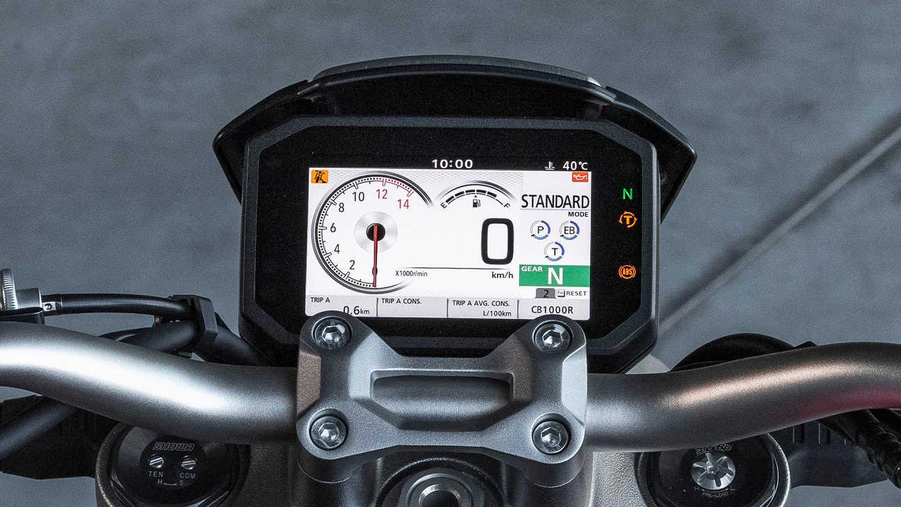 Honda CB1000R, 5palcový displej TFT se systémem hlasového ovládání chytrého telefonu Honda