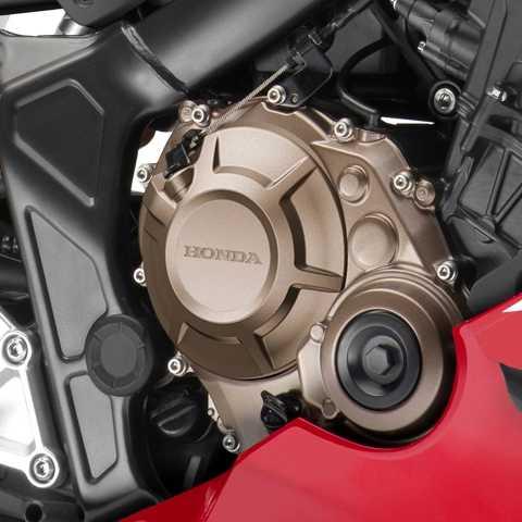 CBR650R, studiový záběr, přiblížení motoru